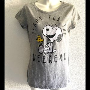 Peanuts Snoopy ready for the weekend T-shirt - M
